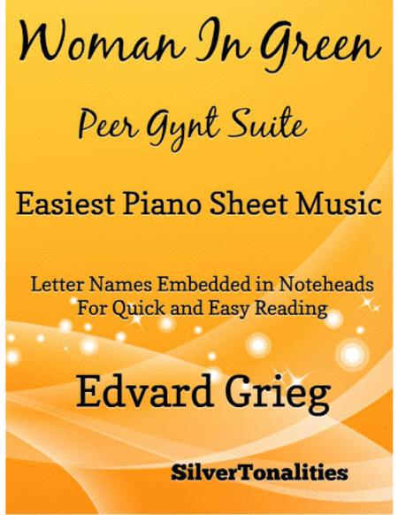 Woman in Green Peer Gynt Suite Easiest Piano Sheet Music