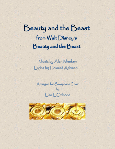 Beauty And The Beast from Walt Disney's Beauty and the Beast for Saxophone Choir