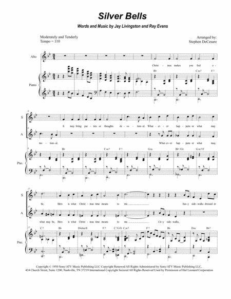 Silver Bells (Duet for Soprano and Alto Solo)