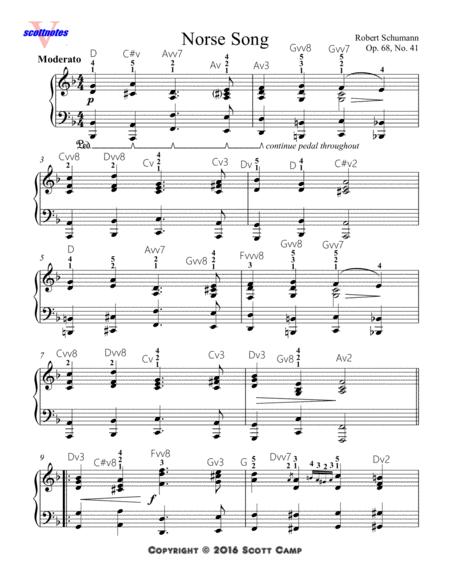 Norse Song, Op. 68, No. 41