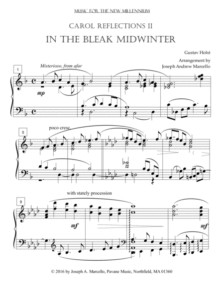 In the Bleak Midwinter Carol Variations