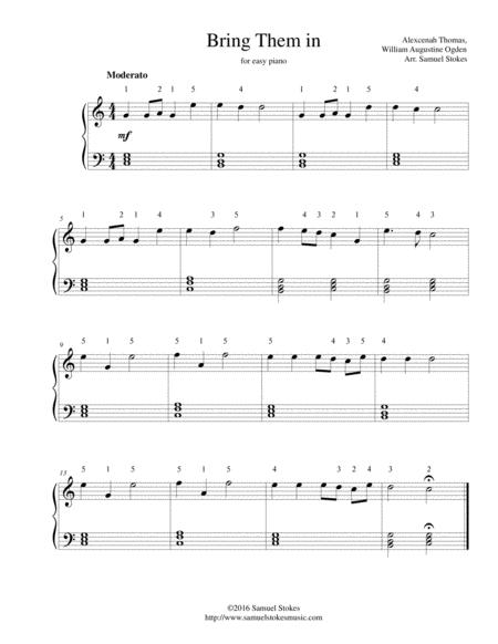 Bring Them In - for easy piano