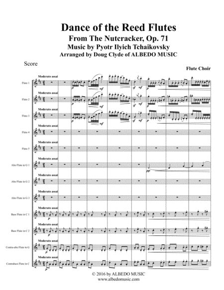 Dance of the Reed Flutes from The Nutcracker for Flute Choir