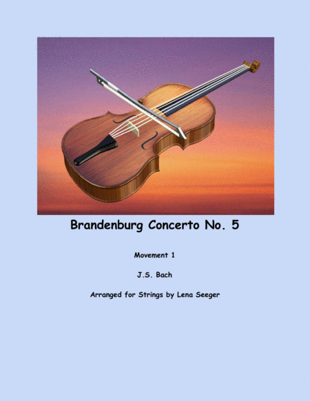 Brandenburg Concerto No. 5 (string trio)