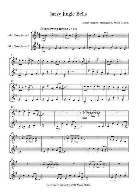 Jazzy Jingle Bells Alto Saxophone Duet
