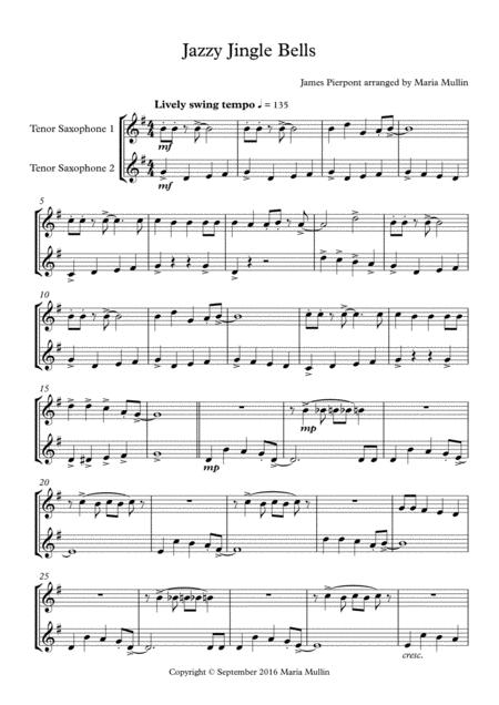 Jazzy Jingle Bells Tenor Saxophone Duet