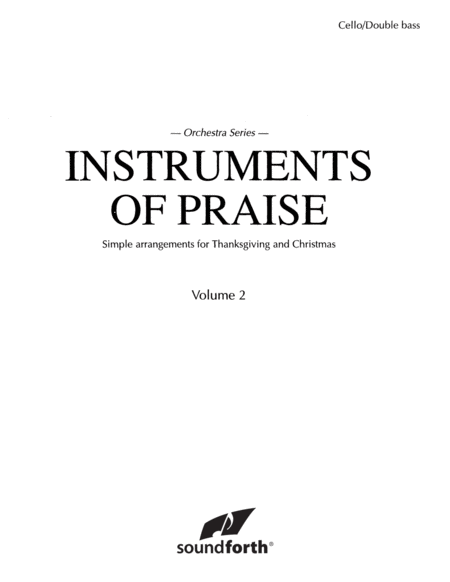 Instruments of Praise, Vol. 2: Cello/Double Bass - Insert only