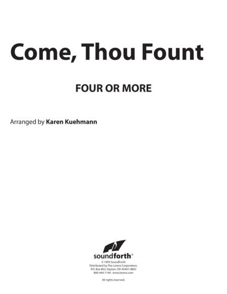 Come, Thou Fount - Four or More