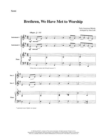 Brethren, We Have Met to Worship - Violin