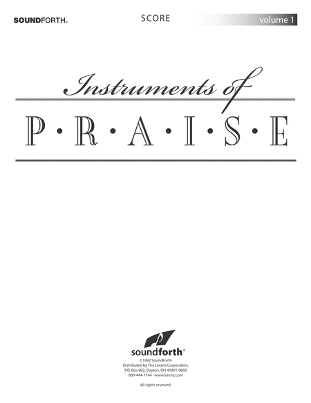 Instruments of Praise, Vol. 1: Violin - Score and Insert