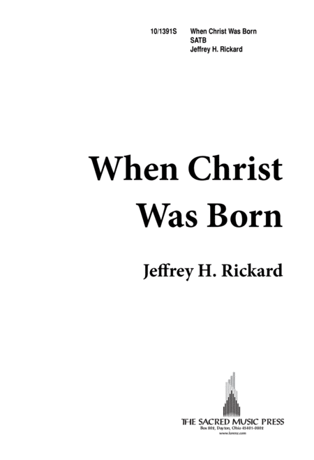 When Christ Was Born