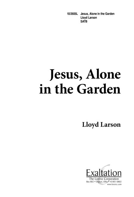 Jesus, Alone in the Garden