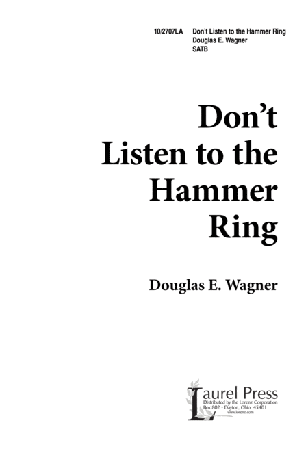 Don't Listen to the Hammer Ring