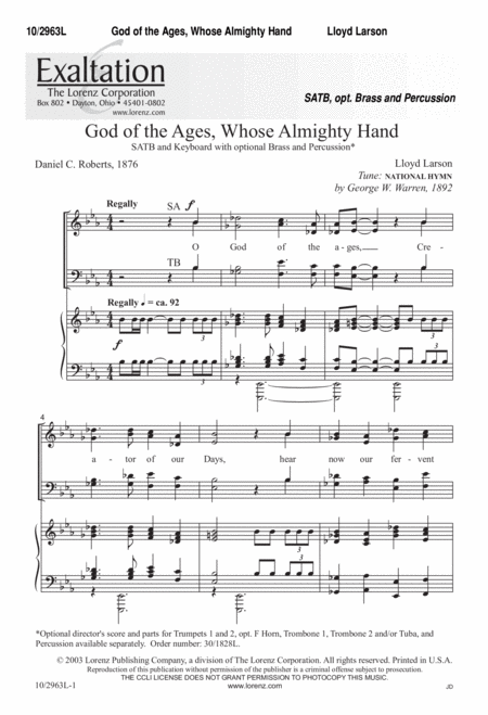 God of the Ages Whose Almighty Hand