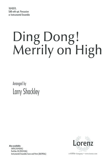 Ding Dong! Merrily on High