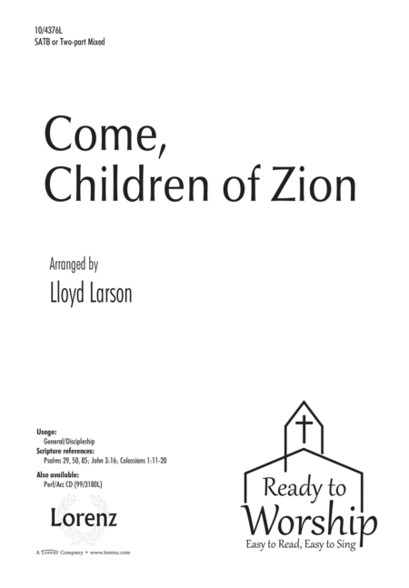 Come, Children of Zion