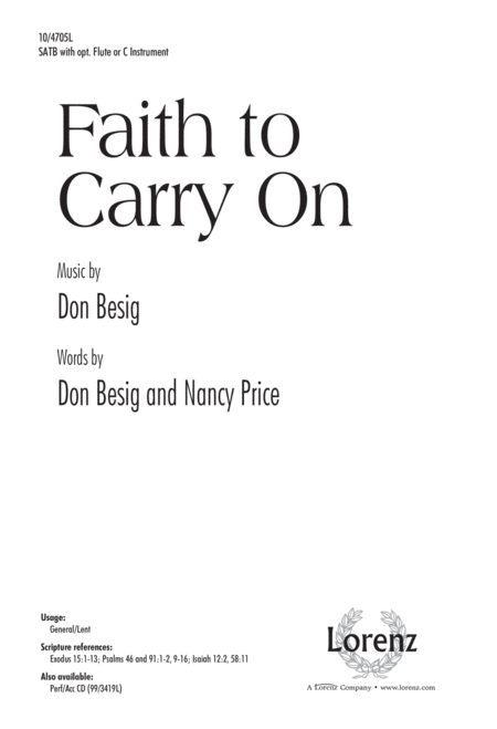 Faith to Carry On