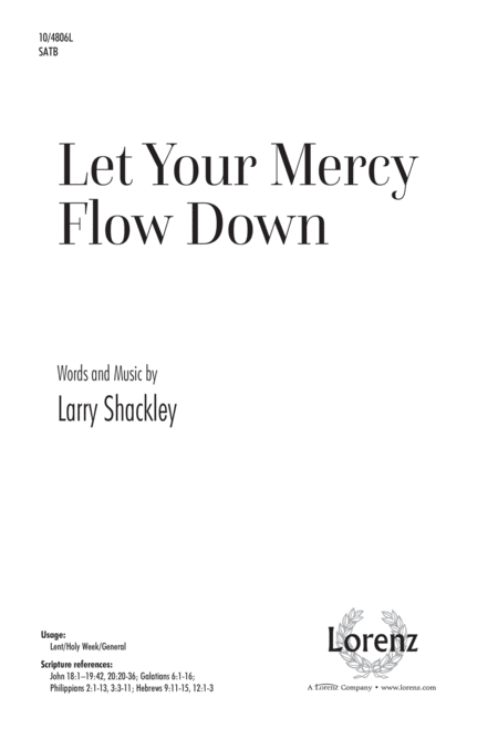 Let Your Mercy Flow Down