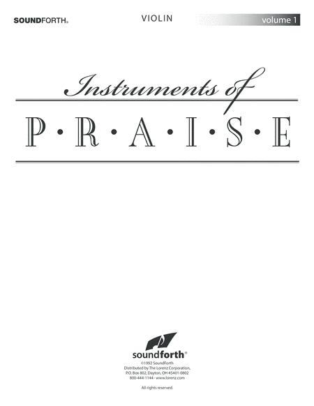 Instruments of Praise, Vol. 1: Violin (insert only)