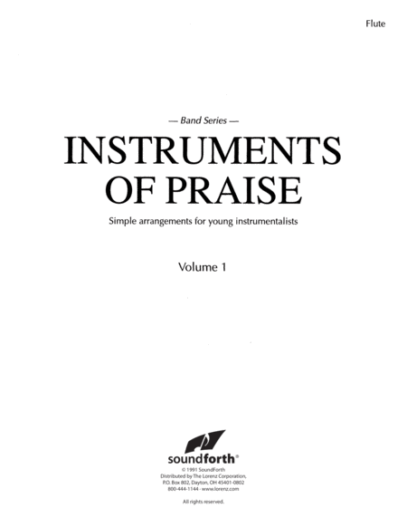 Instruments of Praise, Vol. 1: Flute/Oboe - Insert only