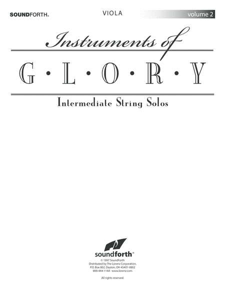 Instruments of Glory, Vol. 2 - Viola