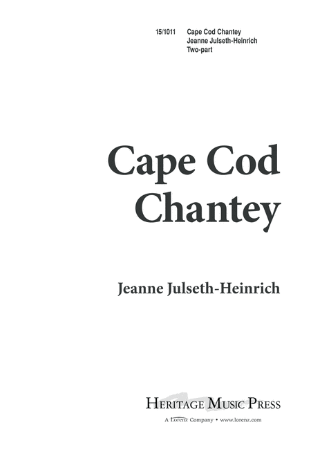 Cape Cod Chantey
