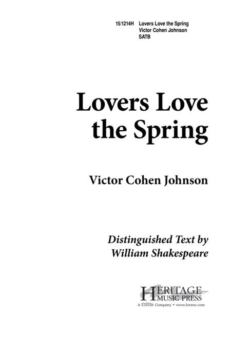 Lovers Love the Spring
