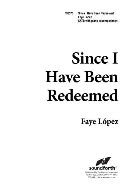 Since I Have Been Redeemed