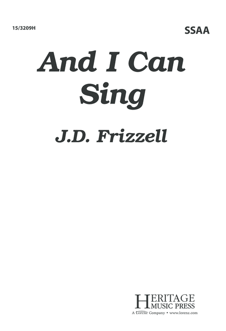 And I Can Sing