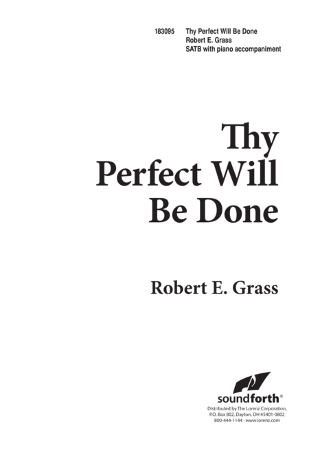 Thy Perfect Will Be Done