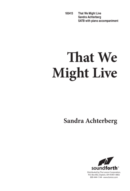 That We Might Live