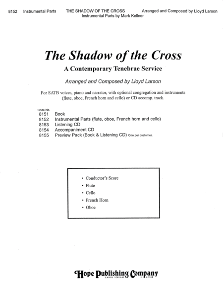 The Shadow of the Cross: A Contemporary Tenebrae Service