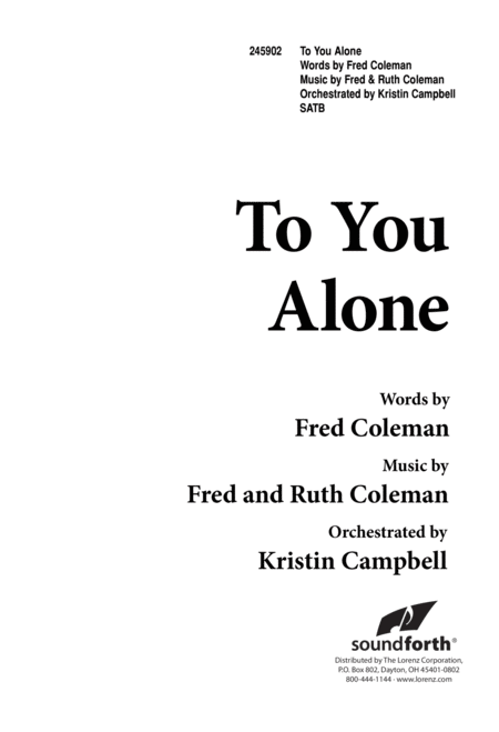 To You Alone