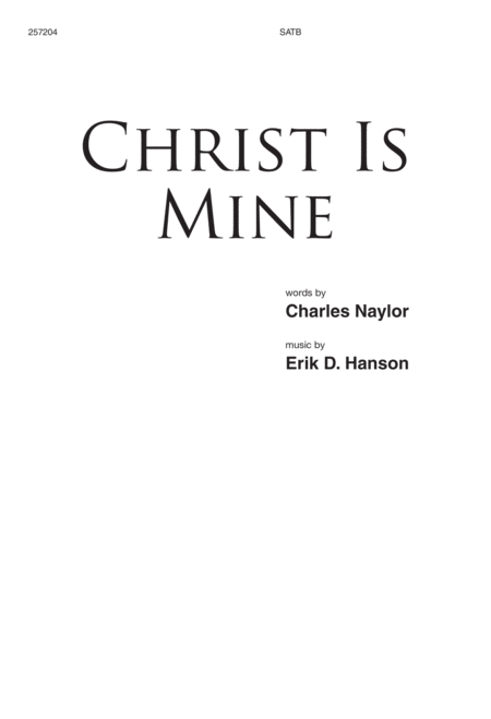 Christ Is Mine
