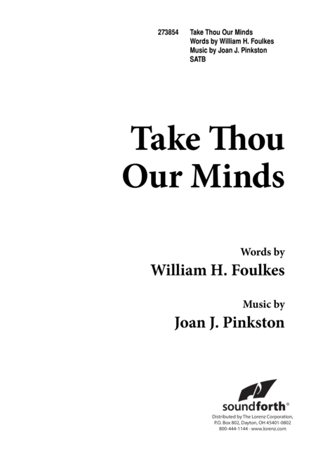Take Thou Our Minds