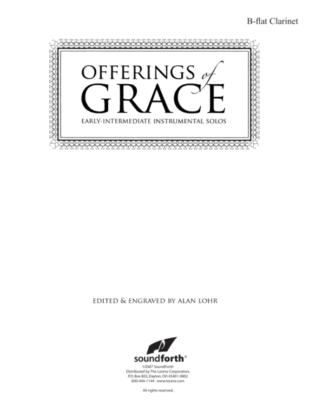 Offerings of Grace - Clarinet