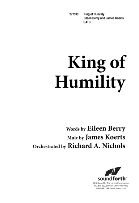 King of Humility