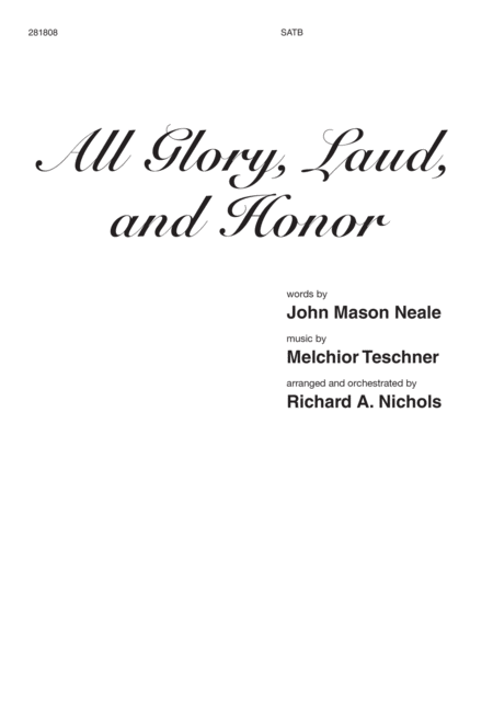 All Glory, Laud, and Honor