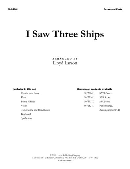 I Saw Three Ships - Instrumental Ensemble Score and Parts