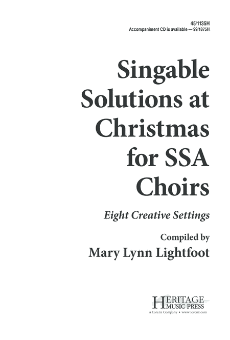 Singable Solutions at Christmas for SSA Choirs