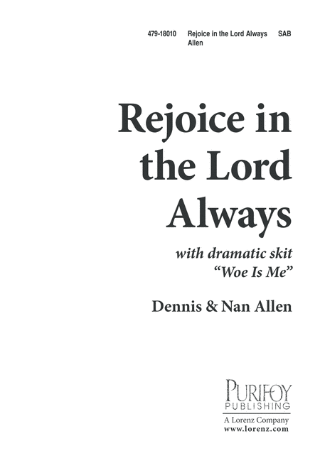 Rejoice in the Lord, Always