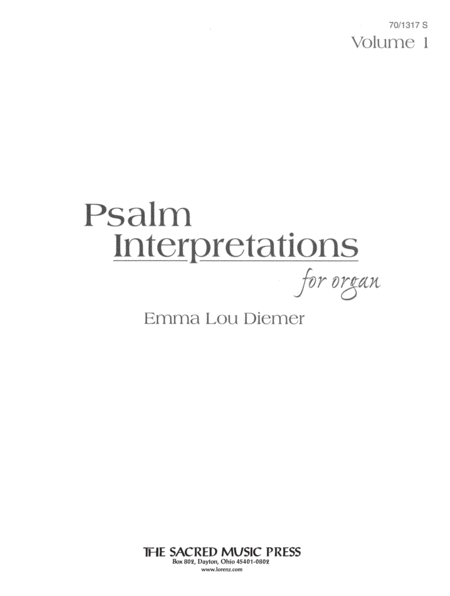 Psalm Interpretations for Organ, Volume 1
