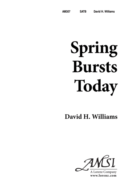 Spring Bursts Today