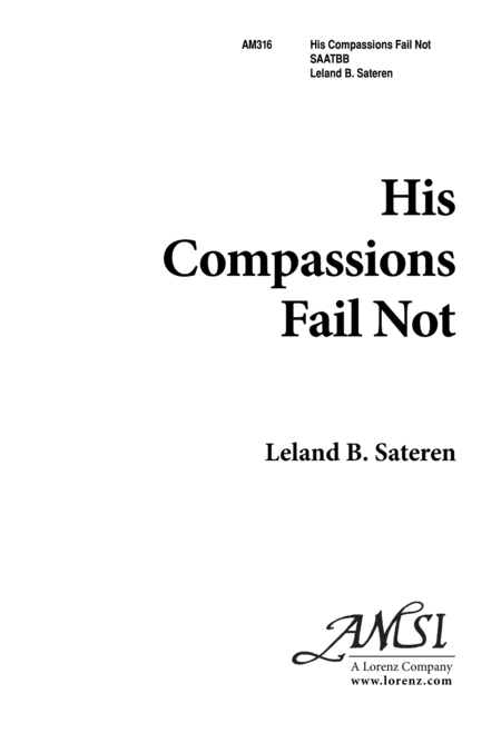 His Compassions Fail Not