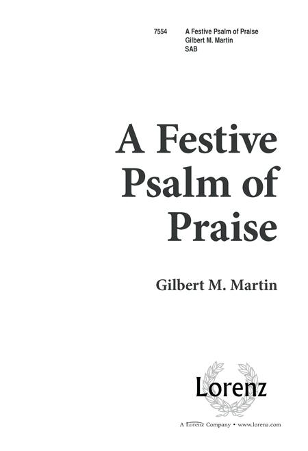 A Festive Psalm of Praise