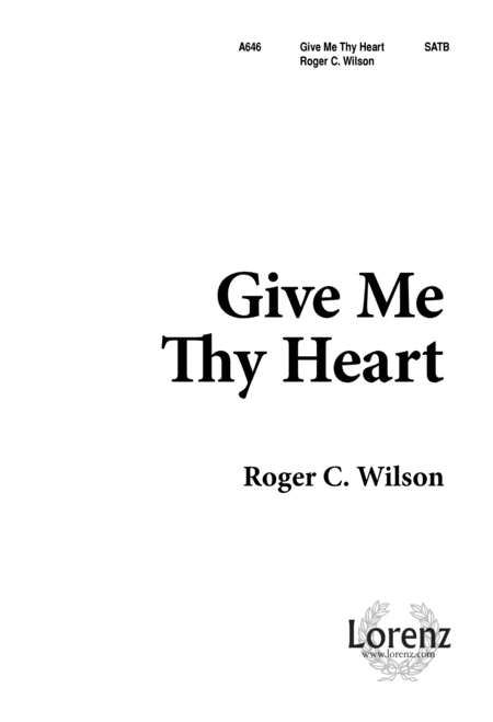 Give Me Thy Heart