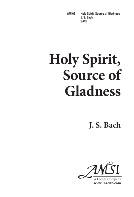 Holy Spirit, Source of Gladness