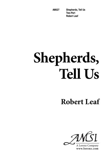 Shepherds, Tell Us