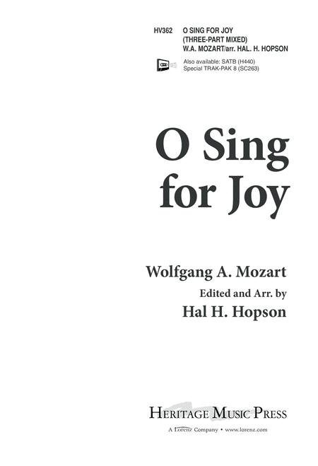 O Sing for Joy