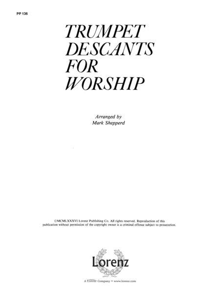 Trumpet Descants for Worship I